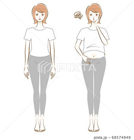 体型を気にする女性 68574949