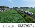 蓮田と常磐線特急E653系特急電車 68579371