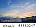 夕暮れの中川橋梁を渡る京成電車 68580247