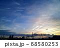 夕暮れの中川橋梁を渡る中川鉄道橋 68580253