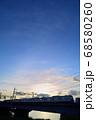 夕暮れの中川橋梁を渡る京成電車 68580260