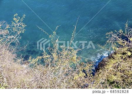 断崖絶壁から見下ろす風景(主観) 68592828