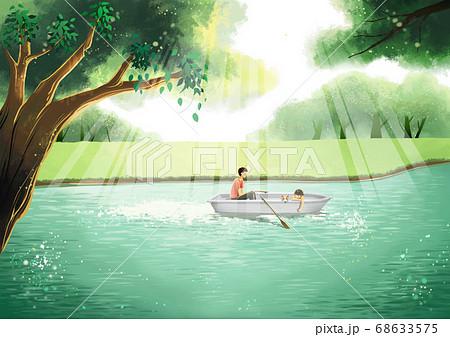 Summer fantasy forest landscape illustration 004 68633575