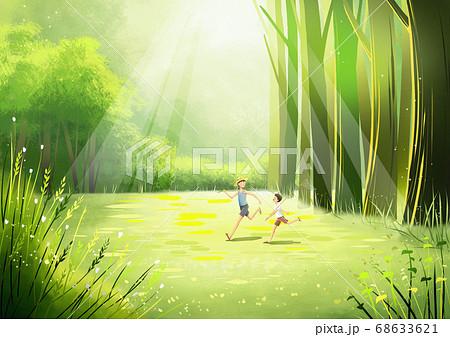 Summer fantasy forest landscape illustration 006 68633621