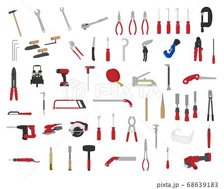 工具イラストセット素材  /  ベクター 68639183