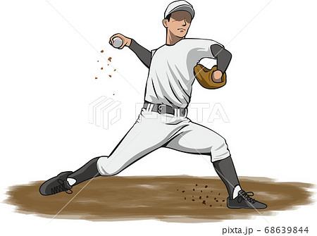 ピッチャーのイメージイラスト(野球選手) 68639844