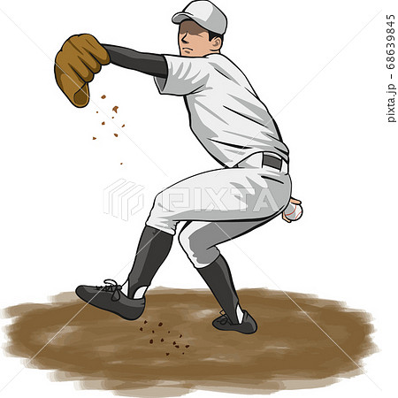 ピッチャーのイメージイラスト(野球選手) 68639845