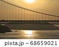 《岡山県》晴れの日、夕暮れの久須美鼻からの風景 68659021