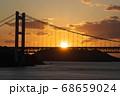 《岡山県》晴れの日、夕暮れの久須美鼻からの風景 68659024