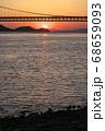 《岡山県》晴れの日、夕暮れの久須美鼻からの風景 68659093
