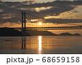 《岡山県》晴れの日、夕暮れの久須美鼻からの風景 68659158