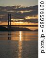《岡山県》晴れの日、夕暮れの久須美鼻からの風景 68659160