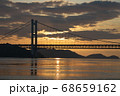 《岡山県》晴れの日、夕暮れの久須美鼻からの風景 68659162