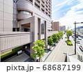 地方都市の都市開発の風景 68687199