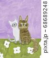 二匹の猫 68689248