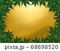 緑の紅葉のフレーム 金朦朧 68698520