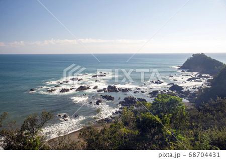 四国 高知県四万十市の展望台から太平洋の眺望 68704431