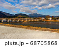 京都 嵐山 嵐山公園 桂川 風景 渡月橋 68705868