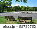 緑と広場とベンチ 公園のイメージ 足立区舎人公園にて 68720762