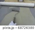 ウレタン防水における通気緩衝シート張り 68726380