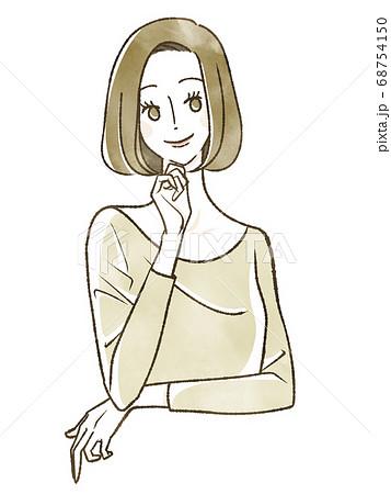 笑顔の女性 68754150