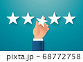 hand giving five star rating. feedback concept vector illustration 68772758