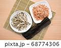 煮干し 鰹節 昆布 68774306