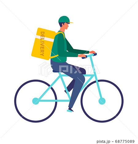 自転車のフードデリバリー イラスト 68775089
