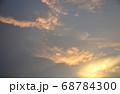 夕焼け空模様  急変した夕焼け空 68784300