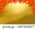 上部のみ赤い紅葉のフレーム 朦朧金 68784807