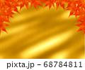 上部のみ赤い紅葉のフレーム 金和紙 68784811