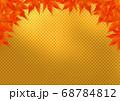 上部のみ赤い紅葉のフレーム 金市松 68784812