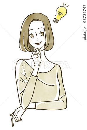 笑顔の女性 ひらめき 68785747