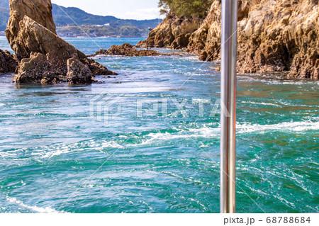 遊覧船から見る瀬戸内海・来島海峡のうず潮 愛媛県今治市 68788684