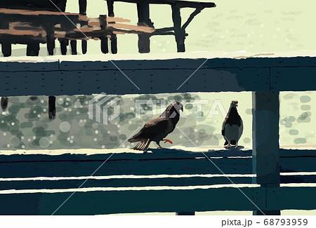 桟橋の鳩、マリナ・デルデイ 68793959