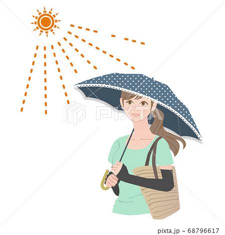 日傘をさす女性 68796617