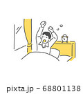 朝起きる男性 68801138