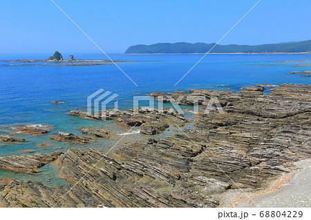 【高知県】晴天下の松崎海岸(化石漣痕) 68804229