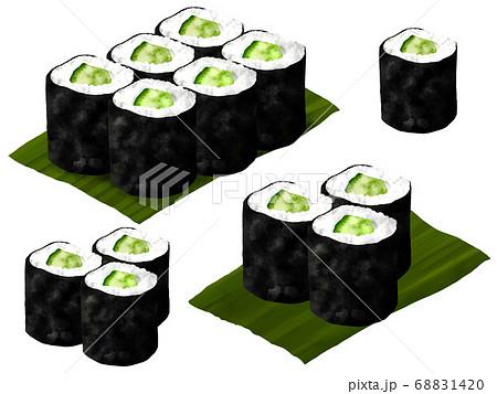 河童巻き かっぱ巻き 寿司 イラスト 68831420