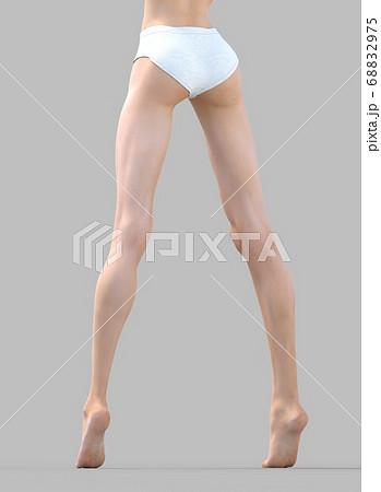 美しい女性の脚 perming3DCG イラスト素材 68832975