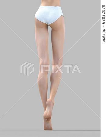 美しい女性の脚 perming3DCG イラスト素材 68832979