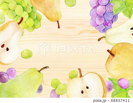 秋の味覚 和梨 洋梨 ぶどう 68837411