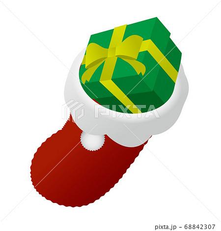 プレゼントが入ったクリスマスブーツ 68842307