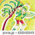 カンガルーポーの花と男の子の妖精 68848849
