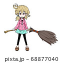 ホウキを持った女の子 68877040