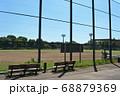 野球場の防護フェンスと観戦用ベンチ 足立区舎人公園にて 68879369