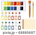 カラー 筆 パレット 68880687