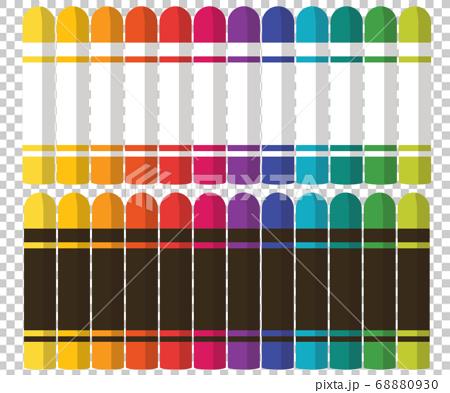 미술도구 크레용 크레파스 컬러 패턴 일러스트 68880930