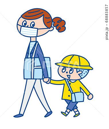 幼稚園の送り迎え 親子 68883857