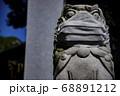 マスクをしている狛犬 目黒不動尊・瀧泉寺【クローズアップ】 68891212